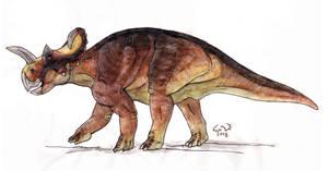 Sketchy Centrosaurus by commander-salamander