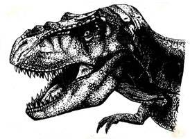 Jurassic Park T rex by commander-salamander