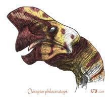 Oviraptor philoceratops by commander-salamander
