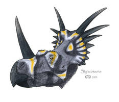 Styracosaurus by commander-salamander