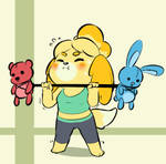 Isabelle is getting ready for Smash!! by BrachyArtz