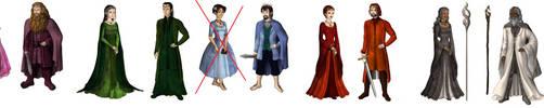 Elemental 'LOTR' adoptables by Silver-Fox-Princess