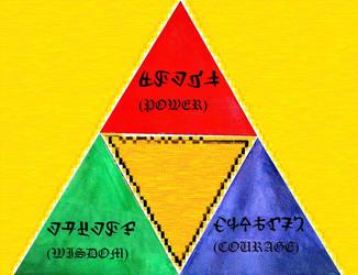 Tri-color Triforce by Dalinkahzel