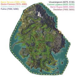 Kingdom of Pelladane - Rare Mob Map by MyraAlex