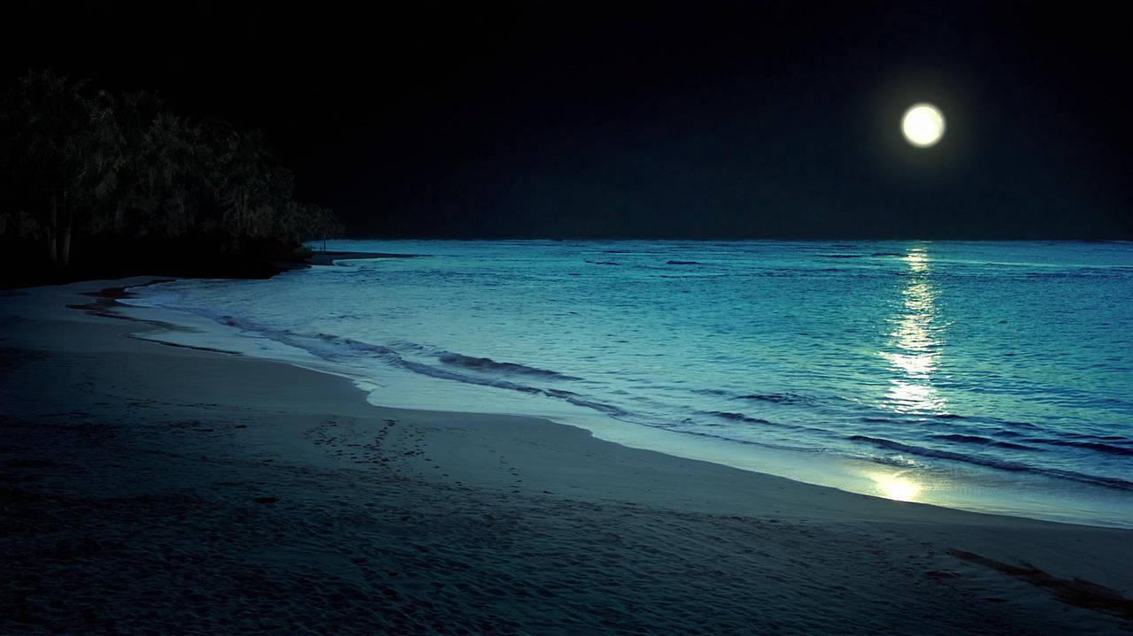 Beach at night by MyraAlex
