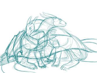 Wing Hug Study - drawn through by NakaseArt