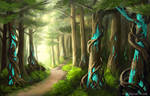 Forest Landscape by NakaseArt
