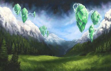 Alpine Landscape by NakaseArt