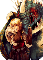 Astrid and Stormfly by Dreamsoffools
