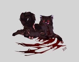 brokenstar{warriors /fanart/black series} by sabrinasan00
