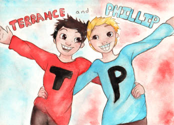 Terrance and Phillip by ferretlivvie