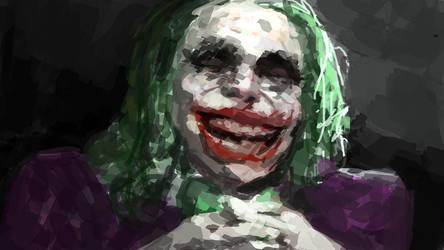 Joker portrait by TheComicArtist