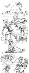 Marichat Once a Thief Sketchdump 2 by Saij-Spellhart