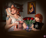 Her two daughters by Chronophontes