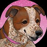 Pet Portrait Gift   prettypinkey2 by Nopeita