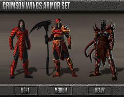 Crimson Wings Armor Set by Emortal982