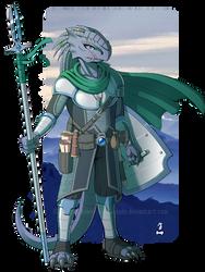 DnD - Vynsayknos, Dragonborn Fighter by Spritedude