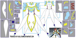 Erza Scarlet LEA Cosplay Design Draft by Hollitaima