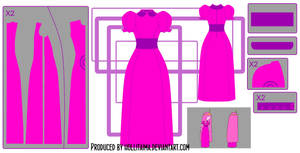 PB classic dress cosplay design draft by Hollitaima