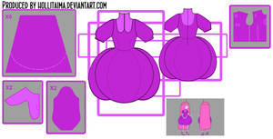 PB 'Wizard Battle' cosplay dress design draft by Hollitaima