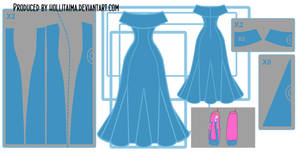 PB 'go with me' cosplay dress design draft by Hollitaima