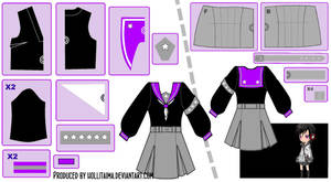 [OC] Nisa Sailor Fuku Cosplay Design Draft by Hollitaima