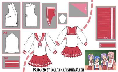 Lucky Star Seifuku Cosplay Design Draft by Hollitaima