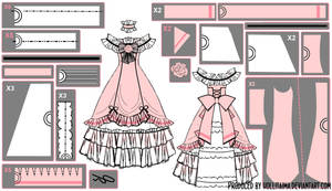 Ciel Phantomhive Ballgown Cosplay Pattern Draft by Hollitaima