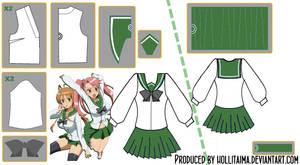 HSOTD Uniform Cosplay Pattern Draft by Hollitaima