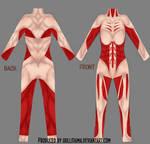 Female titan cosplay bodysuit draft by Hollitaima
