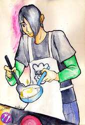 Jupiter frying an egg by YaminaYugineAtema