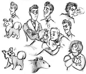 Bear Book sketches by LorinaDante