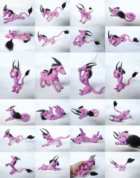 Ball Jointed Pink Dragon: Pinipette by vonBorowsky