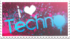 I love techno stamp by ewotion
