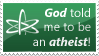 Atheism stamp by ewotion