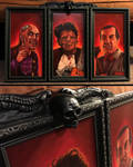 Texas Chainsaw Paintings in Custom Frame by Frankblanket