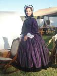 Purple Silk Gown by Lady-Lovelace