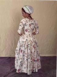 Glazed Chintz Gown Full Back by Lady-Lovelace