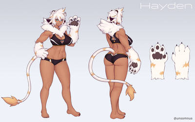 Hayden - Commissioned character sheet by Unsomnus