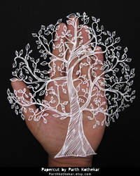 Papercut - Tree of life - Papercutting - Paper art by ParthKothekar