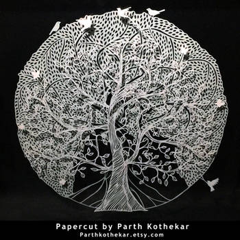 Papercut - layers - Papercutting - Paper art by ParthKothekar
