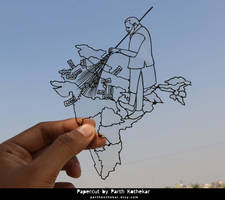 Indian Black Money - Narendra Modi - Papercut by ParthKothekar
