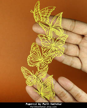Papercut - Craft - Papercutting - Butterfly - Art by ParthKothekar