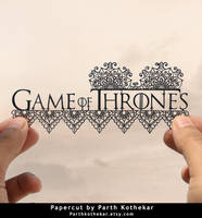 Papercut - Game of Thrones - Got - Logo - Art by ParthKothekar
