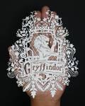 Papercut - Gryffindor - HarryPotter - Papercutting by ParthKothekar
