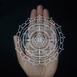 Shri yantra Papercut | Papercutting | Paper Art by ParthKothekar