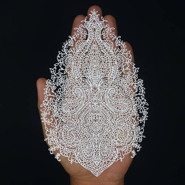Papercut Paisley - Papercutting - Papercuts - art by ParthKothekar