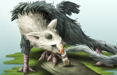 A Griffin and His Boy by aevitas