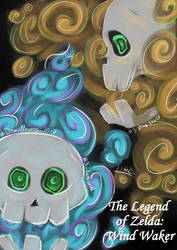 {Dralloween} day3~ SKULL~ fire-curse skulls TLOZ by LindaBozafi