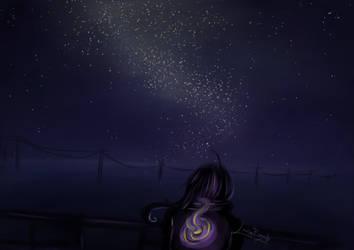 Night Sky by LindaBozafi